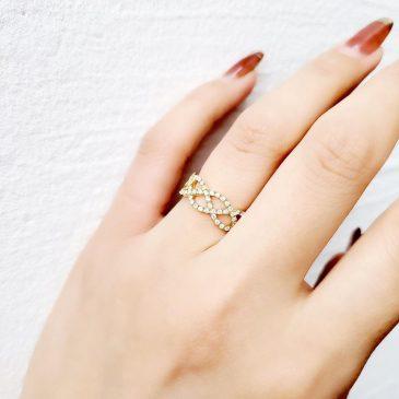 K18 D0.38ct Design Ring